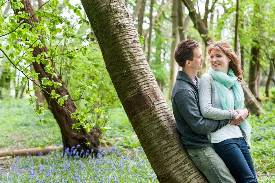 Bluebell engagement shoot Sussex engagement shoot