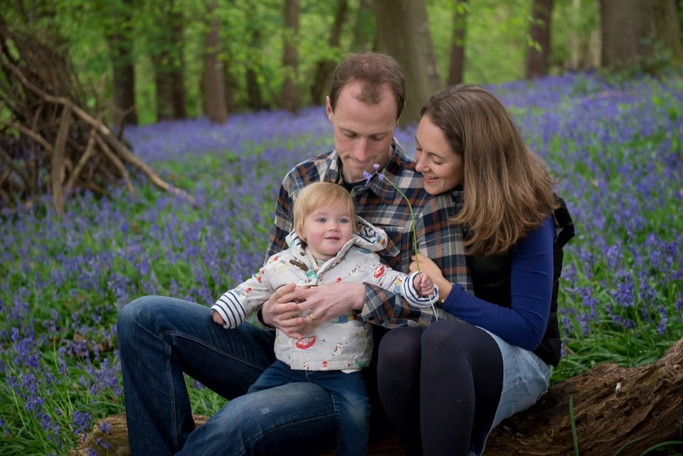 Hertfordshire bluebell photographer, Hertfordshire baby photographer, Hertfordshire family photographer
