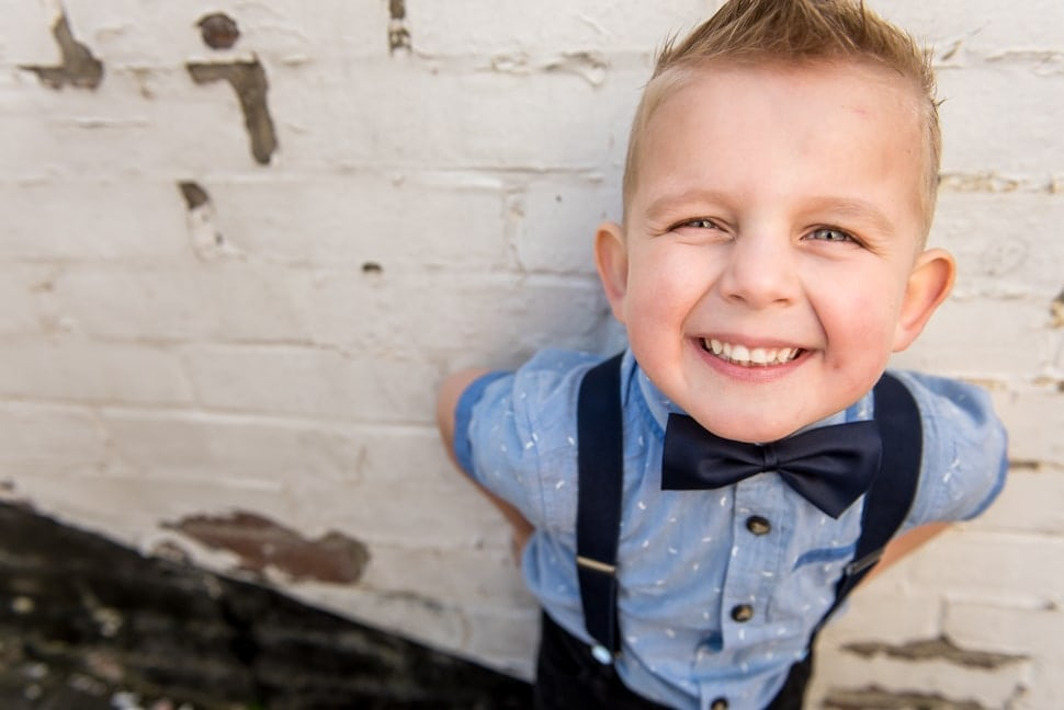 kids in bowties, cheesy grin, portraits of kids