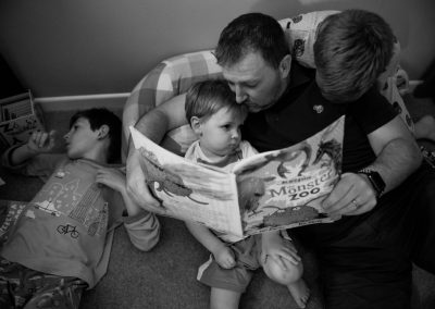 bedtime stories, family photo session, family photography, reading with children