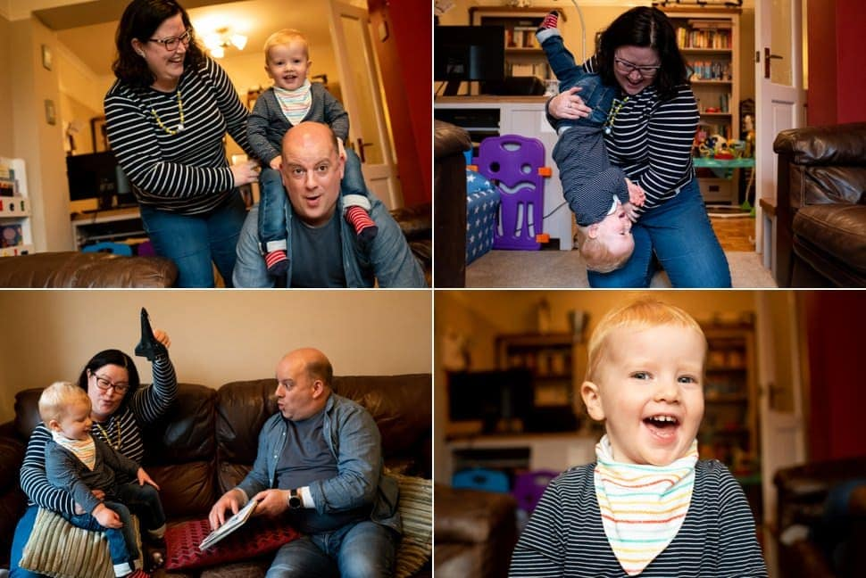 family shoot at home in st albans