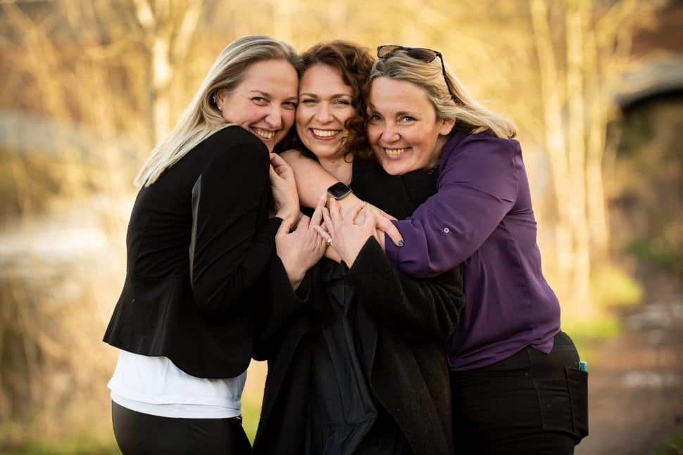 gorgeous female run business owners during photoshoot