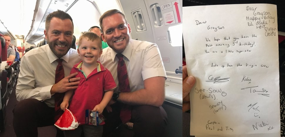 flying with child befriending cabin crew