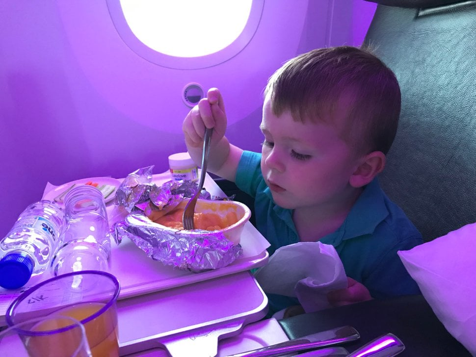 child friendly meals on plane