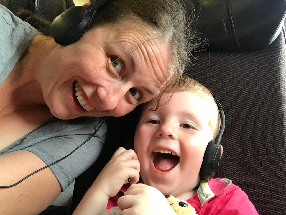 flying with kids who love headphones