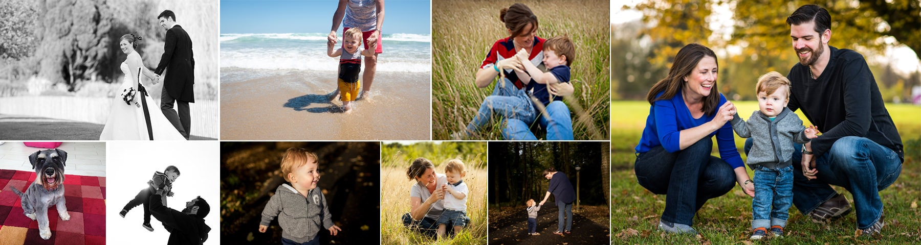 St Albans family photographer photo collage