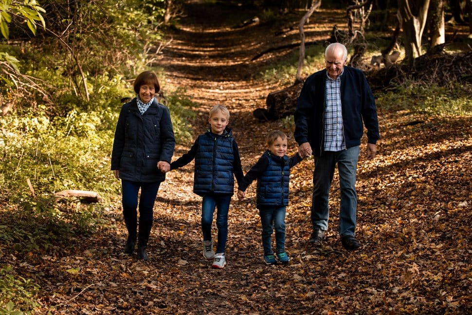 multi generational family photoshoot with grandparents