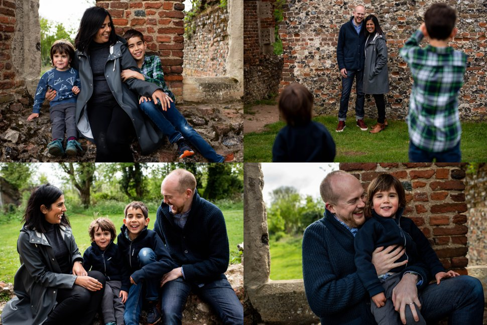 St Albans family photography Sopwell nunnery