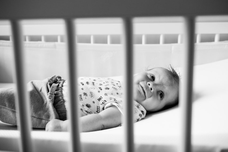tips for photographing baby through cot side