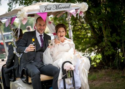 just married bride and groom St Albans