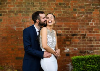 happy St Albans register office wedding photography