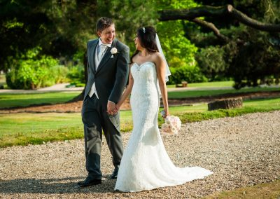 happy bride and groom St Albans