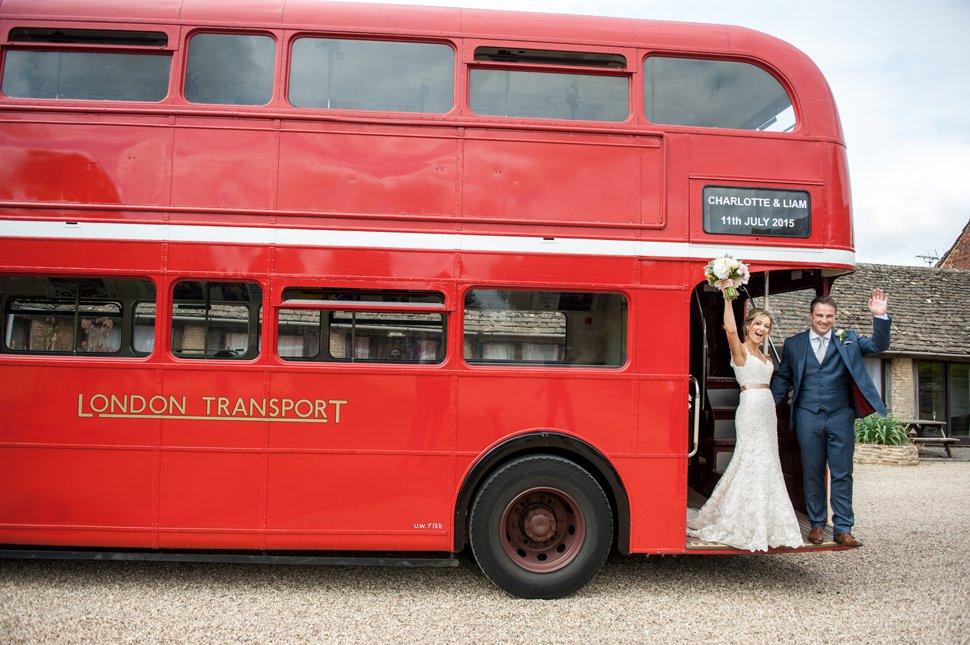 St Albans red wedding bus